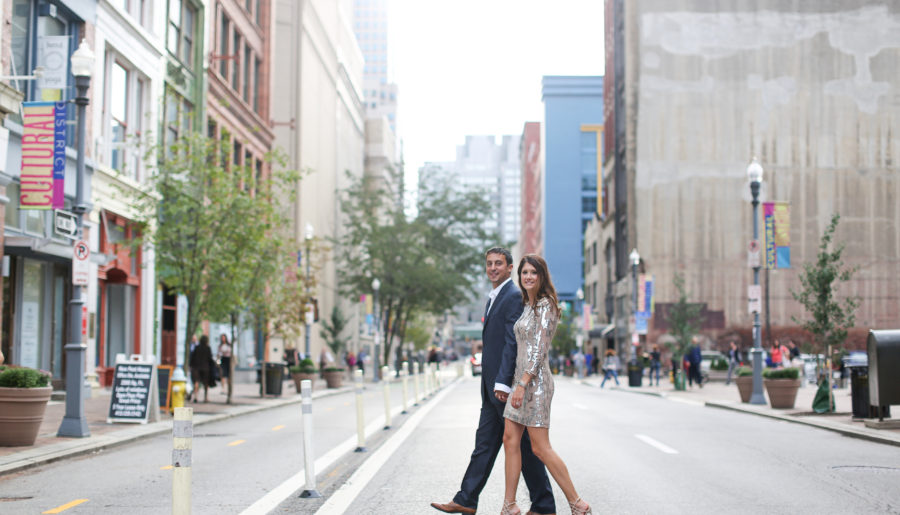Engagement Photos around Pittsburgh